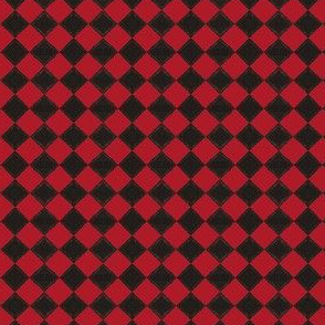 Devilcage Check  Black and Red