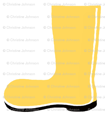 yellow rain boot