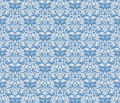 Ocean_Blue_Damask fabric by kelly_a on Spoonflower - custom fabric
