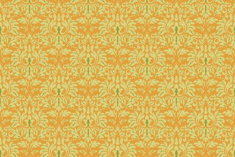 Pumpkin_Damask fabric by kelly_a on Spoonflower - custom fabric