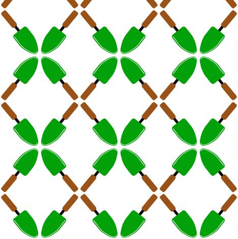 garden tool lattice  fabric by paragonstudios on Spoonflower - custom fabric