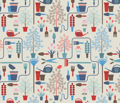 Jardinero fabric by luisbruna on Spoonflower - custom fabric