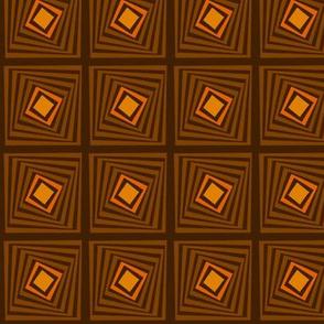 Brown Receding Squares