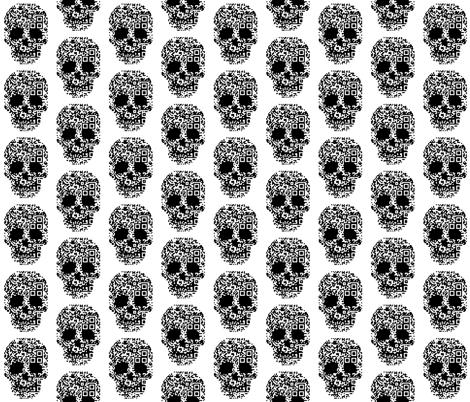 geek skull d3 bar codes fabric by katarina on Spoonflower - custom fabric