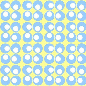 Googly spots, yellow