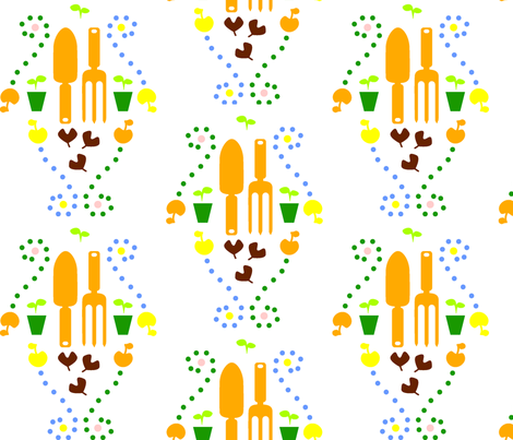 Garden Tools fabric by idaahlström on Spoonflower - custom fabric