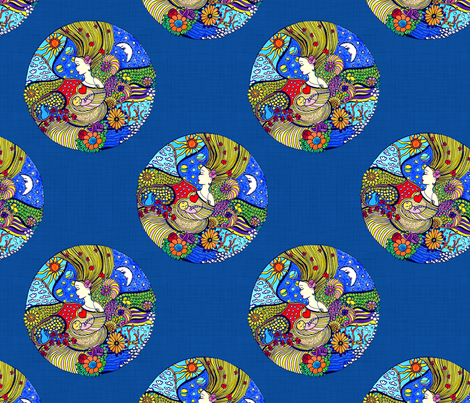 Circle of Life fabric by dinorahdesign on Spoonflower - custom fabric