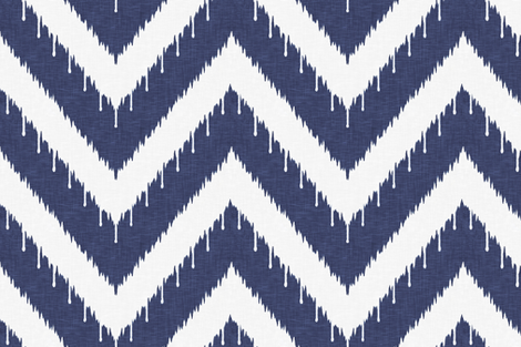 Beaded Ikat Chevron / Indigo fabric by willowlanetextiles on Spoonflower - custom fabric