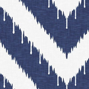 Beaded Ikat Chevron / Indigo