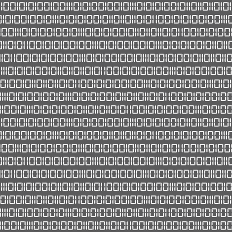 Robot Binary (Gray & White) fabric by robyriker on Spoonflower - custom fabric