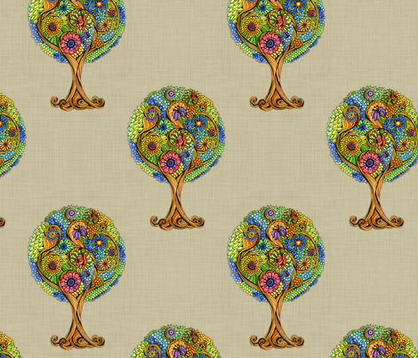 Magical_Tree fabric by dinorahaleatelier on Spoonflower - custom fabric