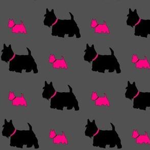 Scottie dog pink by C's