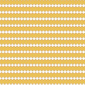 gingham rick rack orange