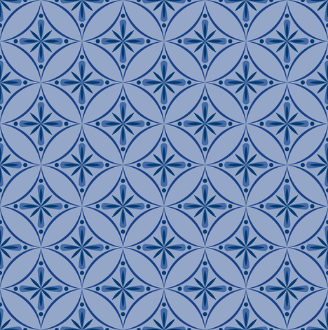 Moroccan Tiles 2 - Blue/Violet fabric by shannonmac on Spoonflower - custom fabric