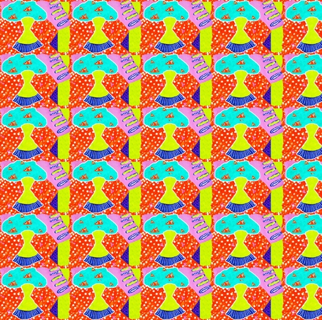 Garden Abstract fabric by robin_rice on Spoonflower - custom fabric