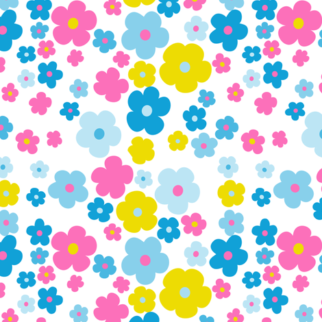 I'm In the garden/Flowers fabric by vannina on Spoonflower - custom fabric