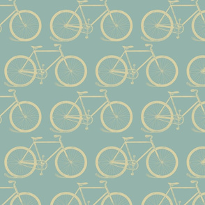 Vintage Bicycle Pattern in Retro Colors