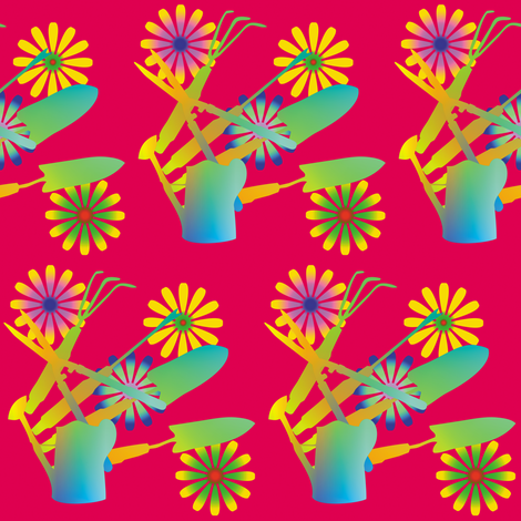 Gardening Tools 4 fabric by animotaxis on Spoonflower - custom fabric