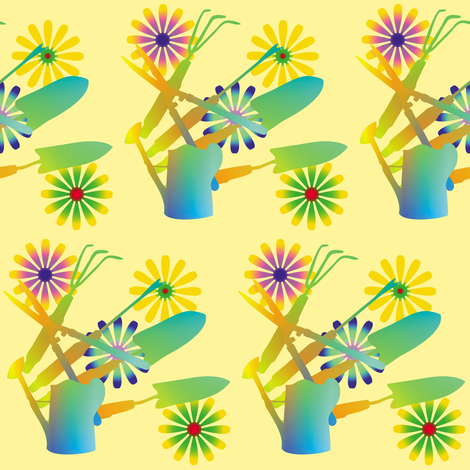 Gardening Tools 8 fabric by animotaxis on Spoonflower - custom fabric