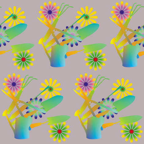 Gardening Tools 10 fabric by animotaxis on Spoonflower - custom fabric