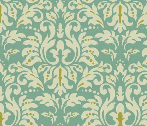 Aqua_Spice_Damask fabric by kelly_a on Spoonflower - custom fabric