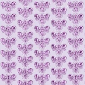 BeeHappy - med - deep purple & pale lavender