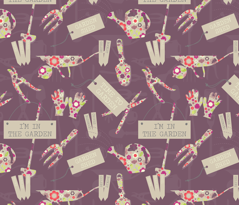 Time to Garden fabric by rosiesimons on Spoonflower - custom fabric
