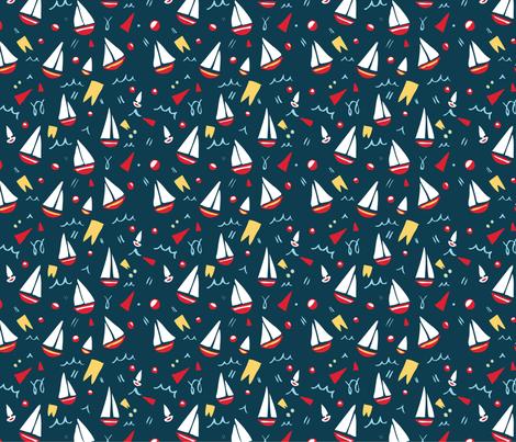 Ship Shape fabric by caroline_watkins on Spoonflower - custom fabric