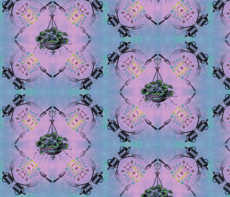 Hanging Garden Fabric Print fabric by spiffydame on Spoonflower - custom fabric