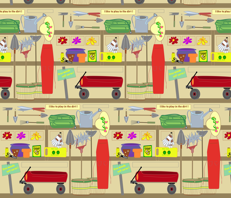AJ_s_Garden_Shed fabric by chovy on Spoonflower - custom fabric