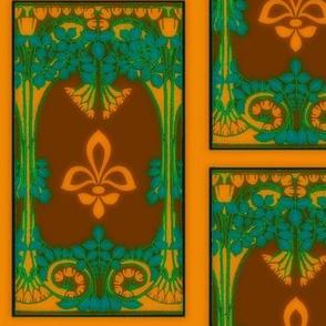 Art Nouveau8-brown/orange