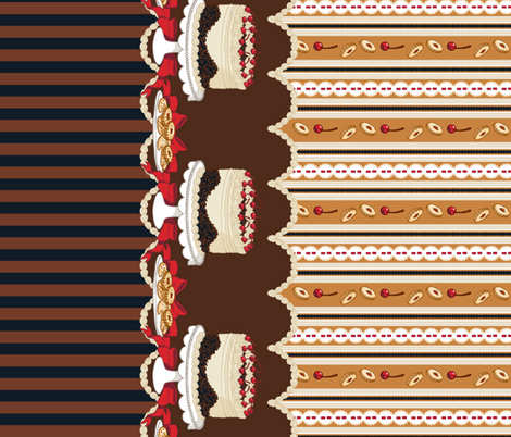 Black Forest Cake fabric by aimee on Spoonflower - custom fabric