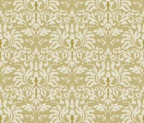 Mocha_Milk_Damask fabric by kelly_a on Spoonflower - custom fabric