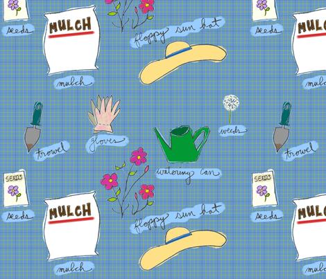 Gardening Tools fabric by dawnams on Spoonflower - custom fabric