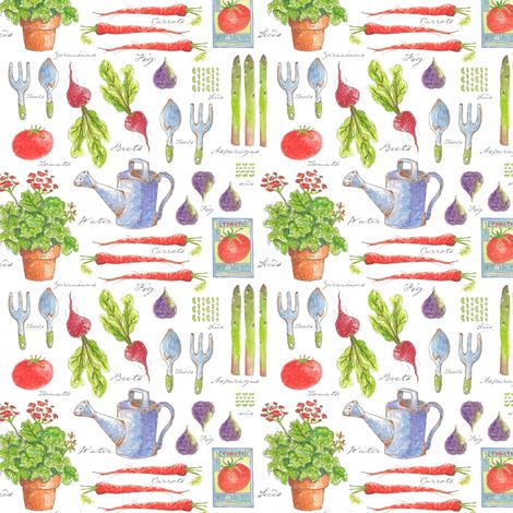 Garden Sketchbook 'Mini' fabric by pattyryboltdesigns on Spoonflower - custom fabric