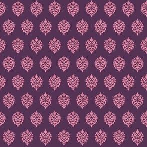 Rock Princess Damask (Purple & Pink)