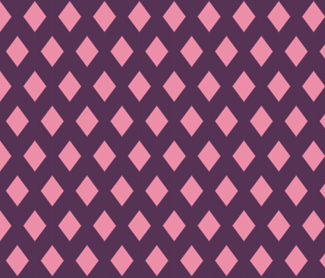 Rock Princess Diamonds (Purple & Pink) fabric by littledesignshop on Spoonflower - custom fabric