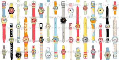 Swiss Time || watch clock retro 80s geometric fashion vintage time