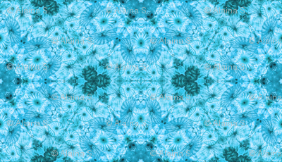 blue jellyfish kaleidoscope