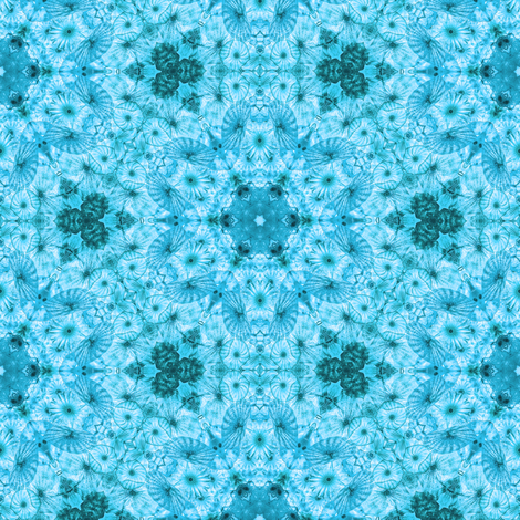 blue jellyfish kaleidoscope fabric by alainasdesigns on Spoonflower - custom fabric