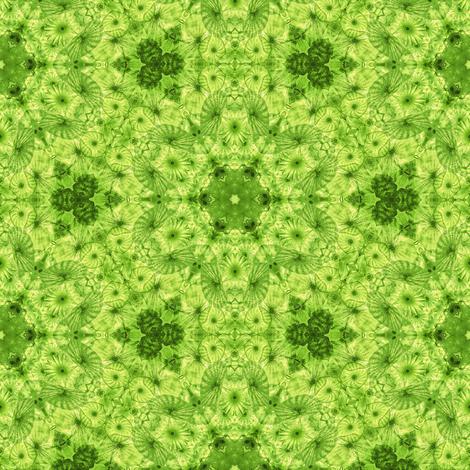 lime jellyfish kaleidoscope fabric by alainasdesigns on Spoonflower - custom fabric