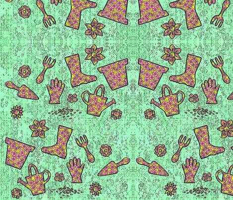 Gardening feeling fabric by lucybaribeau on Spoonflower - custom fabric