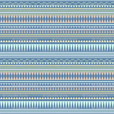 Aztec Stripe Blue