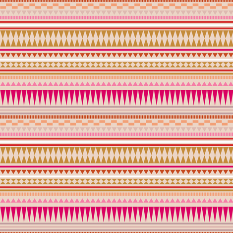 Aztec Stripe Peach fabric by kimsa on Spoonflower - custom fabric