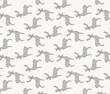Deer gray (vertical) fabric by kimsa on Spoonflower - custom fabric