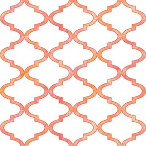 Patterned rose Moroccan quatrefoil by Su_G