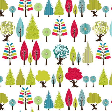 Digital Forest fabric by ebygomm on Spoonflower - custom fabric