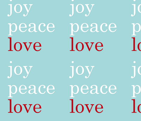 Love Joy Peace fabric by lauren_king_designs on Spoonflower - custom fabric