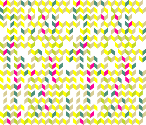 Broken Skinny Chevron in Neon fabric by kfay on Spoonflower - custom fabric