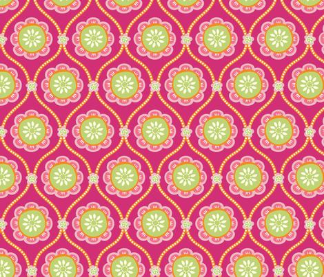 Citrus Flower PINK fabric by jillbyers on Spoonflower - custom fabric